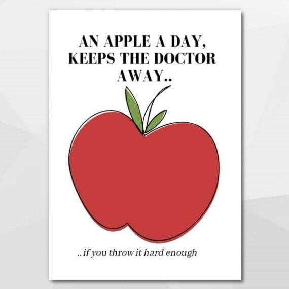 An apple a day - Beterschapskaarten bij Echt-wel.nl