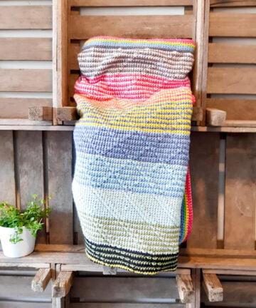 Gekleurde deken - Handgemaakte producten bij Echt-wel.nl