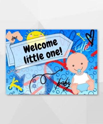 Welcome little one! - Hysterische kaarten bij Echt-wel.nl