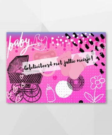 Gefeliciteerd met jullie meisje! - Hysterische kaarten bij Echt-wel.nl