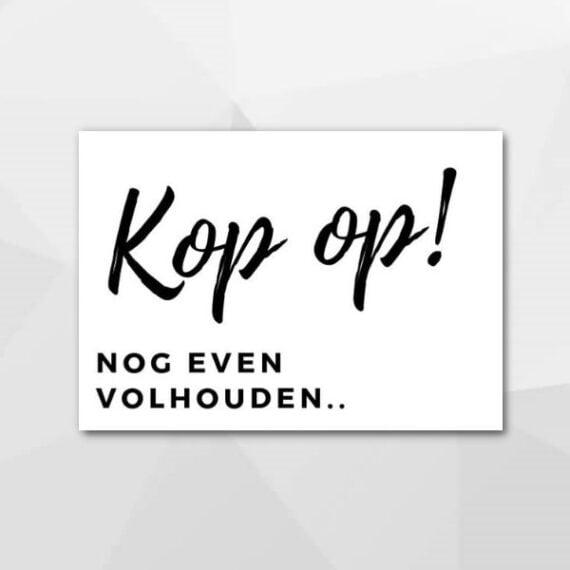 Kop op! - Beterschapskaarten bij Echt-wel.nl