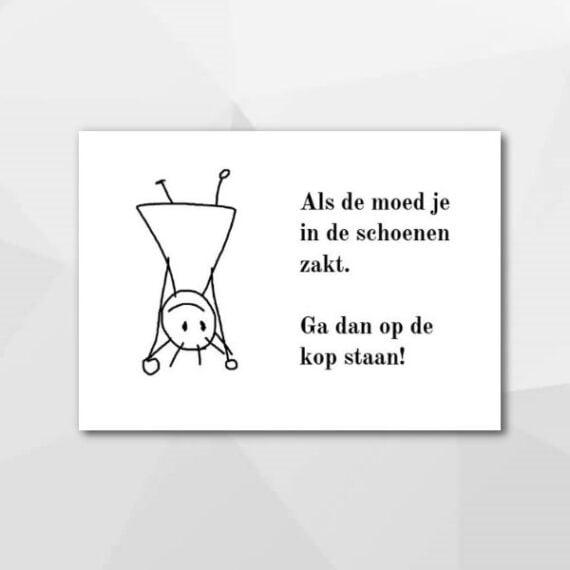 Als de moed in je schoenen zakt - Beterschapskaarten bij Echt-wel.nl