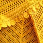 Omslagdoek geel - Handgemaakte producten bij Echt-wel.nl