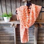 Shawl oranje - Handgemaakte producten bij Echt-wel.nl