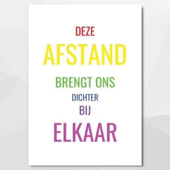 Afstand, maar dichterbij - Unieke, authentieke en leuke kaarten bij Echt-wel.nl