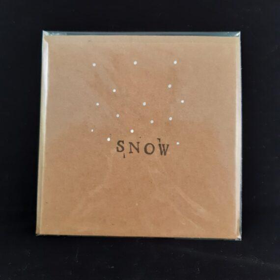 Kerstkaart vierkant Snow - Handgemaakte producten bij Echt-wel.nl