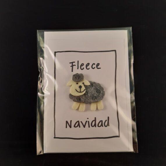 Kerstkaart a6 Fleece Navidad - Handgemaakte producten bij Echt-wel.nl
