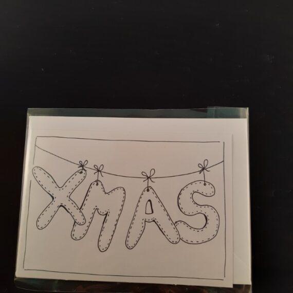 Kerstkaart XMas - Handgemaakte producten bij Echt-wel.nl