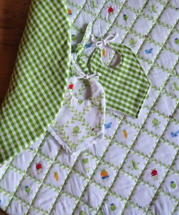 Speelkleed rond groen - Handgemaakte producten bij Echt-wel.nl