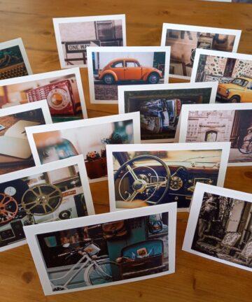 Handgemaakte kaart vintage - Handgemaakte producten bij Echt-wel.nl