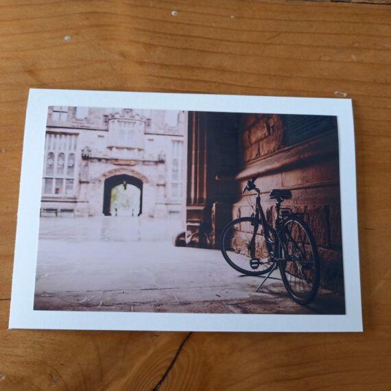 Handgemaakte kaart a6 -vintage fiets