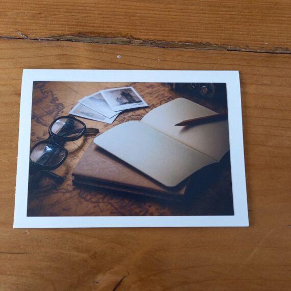 Handgemaakte kaart a6 - vintage schrift