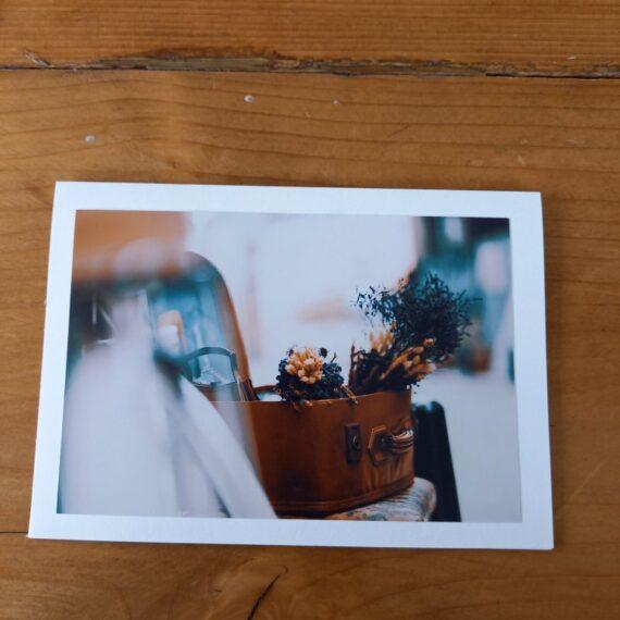 Handgemaakte kaart a6 - vintage bloemen