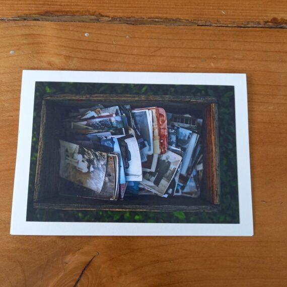 Handgemaakte kaart a6 - vintage foto's