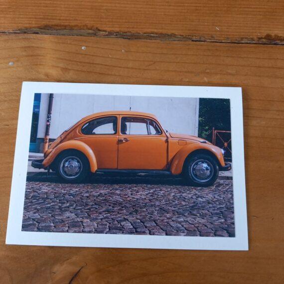 Handgemaakte kaart a6 - vintage kever