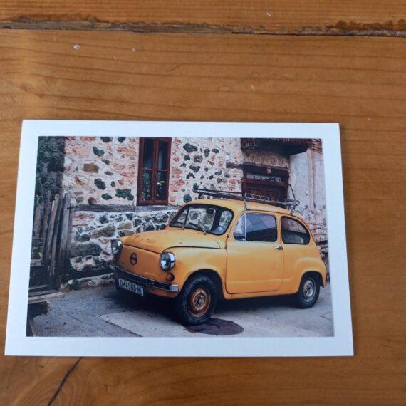 Handgemaakte kaart a6 - vintage auto
