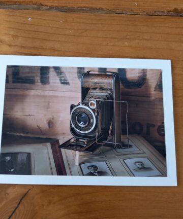 Handgemaakte kaart a6 - vintage camera